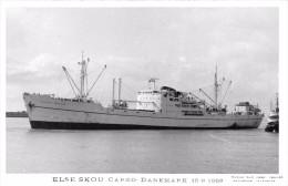 "¤¤  -      Carte-Photo Du Cargo Danois  ""  ELSE SKOU  ""  En 1968   -  ¤¤ - Commerce"