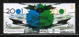 CEPT 2001 HR MI 570-71 USED CROATIA - Europa-CEPT