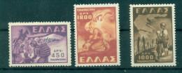 GREECE, 1949 HELLAS 702 - 704, MH - Ongebruikt
