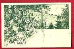 PBI-14  Fête De La Mi-été Du Jura Août 1906 Givrine Sur St-Cergues, Litho , Non Circulé - VD Vaud