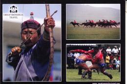MONGOLIA / MONGOLEI - Bogenschiessen, Ringkampf... - Mongolei