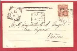 N°Y&T  N° 56 MOCILICE       Vers   PADOVA  1900   2 SCANS - 1878-00 Umberto I