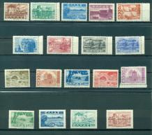 GREECE, LANDSCAPES 1942 -1944, HELLAS 581 - 598, MNH - Grèce