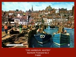 "P4890  ""THE HARBOUR, WHITBY""  (c.1970's. Colour Photogravure Postcard) - Whitby"