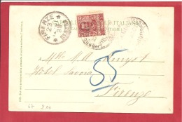 N°Y&T  N° 67  LIVORNO      Vers   FIRENZE  1901   2 SCANS - Storia Postale