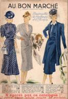 Catalogue (dos Carré)  AU BON MARCHE Nouveautés Printemps été 1939 (CAT045) - Textile & Vestimentaire