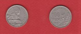 Gad # 897 --   100 Francs 1957 B   --  état TTB - N. 100 Franchi