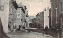 07 - Chomérac - Rue De La Poste (affiche Publicitaire LU) - Otros Municipios