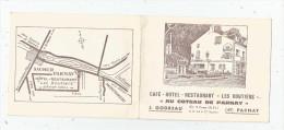 G-I-E , Carte De Visite , 4 Pages , Café Hôtel Restaurant : Les Routiers , Au COTEAU DE PARNAY , 49 , PARNAY, 2 Scans - Visitenkarten