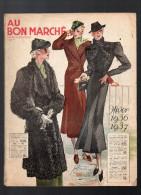 Catalogue AU BON MARCHE Hiver 1936 1937 (CAT001) - Textile & Vestimentaire