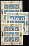 RUSSIE - Petits Feuillets De 9 D'églises Orthodoxes Neufs LUXE - Unused Stamps