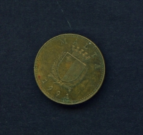 MALTA  -  1991  1c  Circulated Coin - Malta
