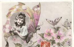 Enfant Papillons Et Fleurs Suréalisme   Superbe éd AS Paris - Butterflies