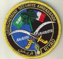 ECUSSON GENDARMERIE PROTECTION AMBASSADE DE FRANCE RYAD + VELCRO - Police