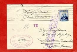 ESPAGNE Guerre Civile Censure Républicaine 1937 De Barcelone Pour Saumur 49 Maine-et-Loire Scans Recto-verso - Republicans Censor Marks