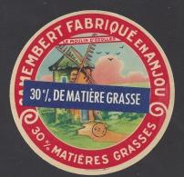 Etiquette De Fromage  30% -  Le Moulin D´Ozolles  -   (Laiterie De Grez Neuville )  (49 I )  - Coupon 30 % Collé Dessus - Cheese