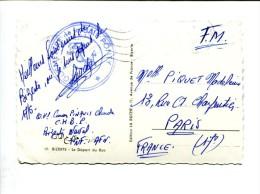 Franchise Militaire 1962 : Vaguemestre De La Baie Ponty (Bizerte Naval) - Marcophilie (Lettres)