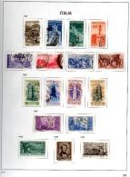 ITALIA REPUBBLICA - COLLEZIONE COMPLETA USATA DAL 1946 AL 2001 (LIRA) SU ALBUM DAVO - Italia