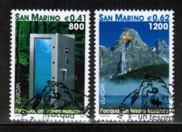 CEPT 2001 SM MI 1950-51 USED SAN MARINO - Europa-CEPT