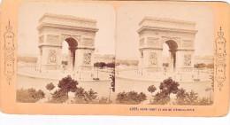 Vieille Photo Stereoscopique Paris Collection BK Rond Point Et Arc De L Etoile Arc De Triomphe Vers 1870 - Stereo-Photographie