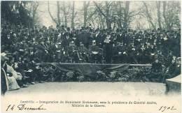 Lunéville - Inauguration Du Monument Erckmann, Sous La Présidence Du Général André, Ministre De La Guerre - Luneville