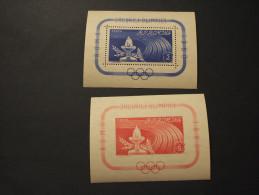 ROMANIA - 2 BF 1960 OLIMPIADI - NUOVI(++) - Blocks & Sheetlets