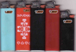 5 X Briquets BIC, Made In FRANCE, Lighter, Feuerzeug,Accendino, Encendedor - Autres