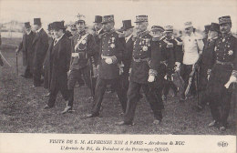 Evènements - Visite Officielle Alphonse XIII à Paris - Aérodrome De Buc - Espagne - Militaria Officiers Président - Réceptions