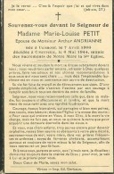 Rouvroy Couvreux Marie Louise Petit Ucimont 1906 Couvreux 1944 - Rouvroy