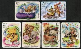 2014 Finland, Teddy Bears, Complete Set Fine Used. - Gebraucht