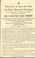 Meix Devant Virton Soeur Bernard De Jesus Marie Louise Rosmant 1916 Grammont 1941 - Meix-devant-Virton