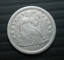 USA 1 Dime 1856 Silver - Emissioni Federali
