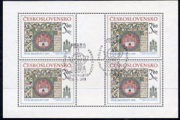 CZECHOSLOVAKIA 1977 Historic Bratislava 3.60 Kc. Sheetlet, Cancelled.  Michel 2419 Kb - Blocks & Sheetlets