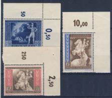 Deutsches Reich Michel No. 820 - 822 ** postfrisch Eckrand