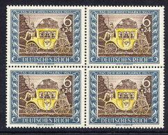 DEUTSCHES REICH 1943 Stamp Day Block Of 4 MNH / **.  Michel 828 - Unused Stamps