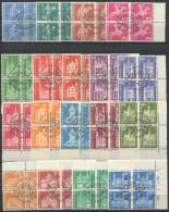 761 - 1960 Postgeschichliche Motive Und Baudenkmäler Im Viererblock Mit ET-Stempel