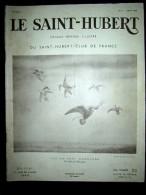 SAINT HUBERT 8 Chasse Chamois Dessin PORET Faucon Renard Cerf Perdrix Provence Oubangui Chari Couv Dess Courlis Aout1938 - Chasse/Pêche