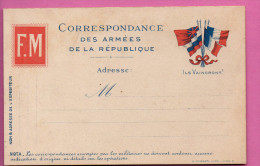 Carte Franchise Militaire -  Ils Vaincront - Marcophilie (Lettres)