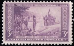 UNITED STATES - Scott #739 French Explorer Jean Nicolet At Green Bay, Wisconsin (*) / Mint LH Stamp - Etats-Unis