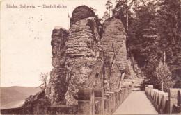 0-8305 RATHEN, Säschsische Schweiz, Basteibrücke, 1922 - Rathen