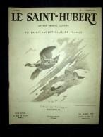 SAINT HUBERT #2 Chasse Jagd Hunt Perdrix Tchecoslovaquie Aigle Renard Couv. Dessin Bartavelle Xavier De PORET Fév. 1939 - Chasse/Pêche