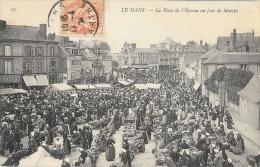Le Mans (Sarthe) - La Place De L'Eperon Un Jour De Marché - Carte ND Phot N°95 - Le Mans