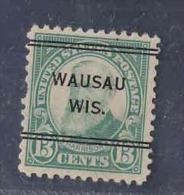 USA PRECANCEL WAUSAU WIS PERF 11 DOUBLE LINE AAD6215 - Préoblitérés
