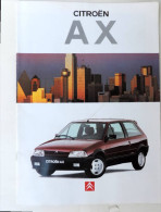 Plaquette De Vente Citroën AX Edition 2 - Werbung