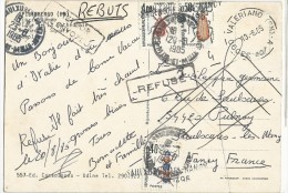 1985 - CARTE De VALERIANO (ITALIE) SANS TIMBRE => TAXE Pour PULNAY (MEURTHE ET MOSELLE) - REFUSE => RETOUR - REBUTS - 1961-....