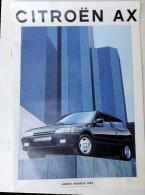 Plaquette De Vente Citroën AX Modèle 1994 - Werbung