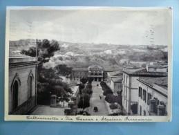 Caltanissetta - Via Cavour E Stazione Ferroviaria - Viaggiata - Caltanissetta
