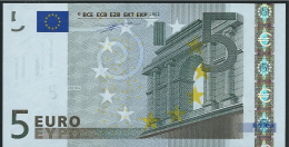 S  ITALIA  5 EURO J001 D6  DUISENBERG   UNC - EURO