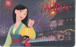ARGENTINA(chip) - Disney/Mulan, Telefonica Telecard(F 105), Chip GEM1, 05/98, Used - Argentina