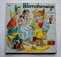 LIVRE - DISQUE VOGUE  33T - Illustrations GERMAINE BOURET - BLANCHE-NEIGE - Année 1968 - Children